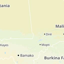 モーリタニア地図 - モーリタニ...